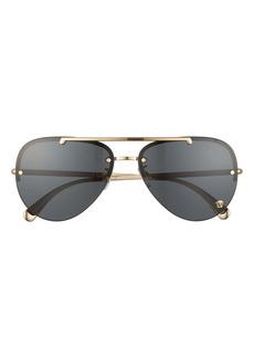 Versace 60mm Pilot Sunglasses
