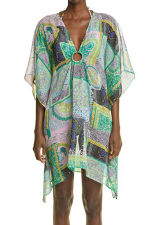 Versace Barocco Patchwork Print Silk Cover-Up Tunic