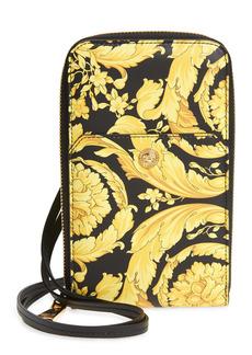 Versace Barocco Zip Around Leather Wallet