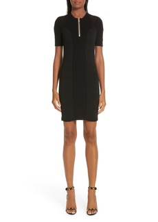 Versace Collection Logo Trim Body-Con Dress
