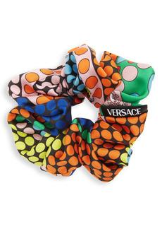 Versace Dot Print Scrunchie