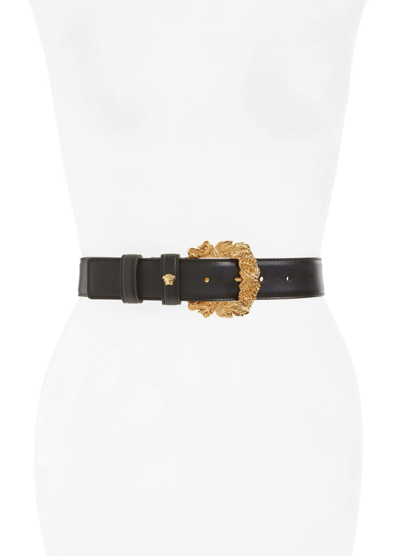 Versace First Line Tribute Leather Belt