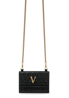 Versace First Line Virtus Leather Wallet on a Chain