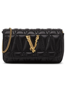 Versace First Line Virtus Mini Quilted Leather Bag