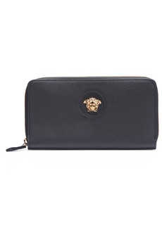 Versace LA Medusa Zip Around Leather Wallet