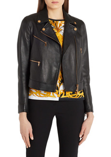 Versace Leather Moto Jacket