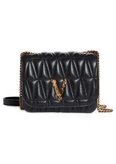 Versace Medium Vertis Quilted Leather Shoulder Bag