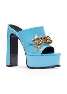 Versace Medusa Chain Platform Slide Sandal (Women)