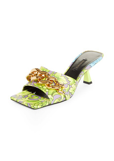 Versace Medusa Chain Slide Sandal (Women)