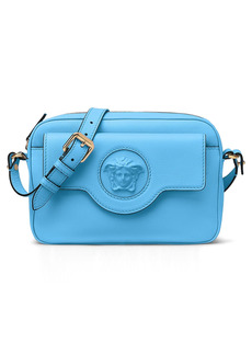 Versace Medusa Leather Crossbody Camera Bag