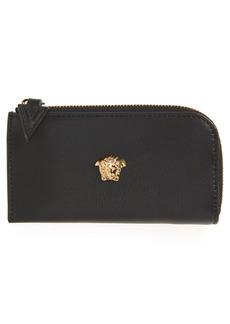 Versace Medusa Zip Leather Card Case