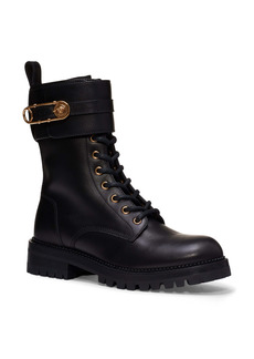Versace Safety Pin Combat Boot (Women)
