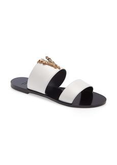 Versace V-Hardware Slide Sandal (Women)