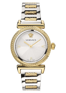Versace V-Motif Stainless Steel Bracelet Watch, 35mm