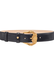 Women's Versace First Line Baroque Buckle Leather Belt