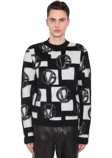 Versace Wool Blend Jacquard Knit Sweater