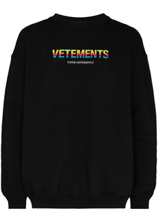 Vetements logo print sweatshirt