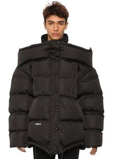 Vetements 'upside-down' Down Jacket W/ Logo Patch
