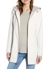 Via Spiga Half-Belt Hooded Soft-Shell Jacket
