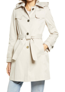 Via Spiga Belted Water Repellent Trench Coat