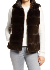 Via Spiga Faux Fur Reversible Vest