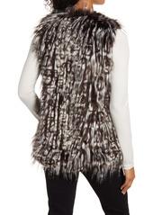 Via Spiga Leopard Faux Fur Vest
