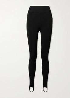 Victoria Beckham Stretch-knit Stirrup Leggings