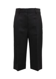 Victoria Beckham Tailored Tech & Wool Bermuda Shorts
