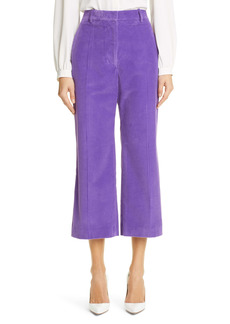 Victoria Beckham Corduroy Wide Leg Crop Trousers