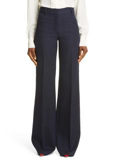 Victoria Beckham High Waist Patch Pocket Wool Pants