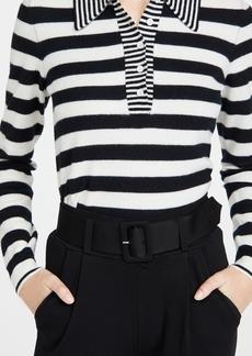 Victoria Beckham Lightweight Cashmere Blend Striped Polo