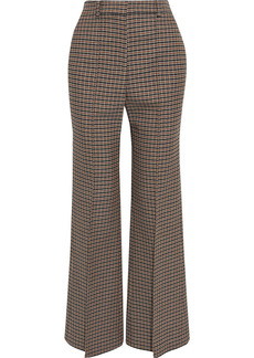 Victoria Beckham Woman Checked Wool Flared Pants Orange