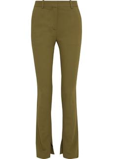 Victoria Beckham Woman Stretch-crepe Slim-leg Pants Army Green