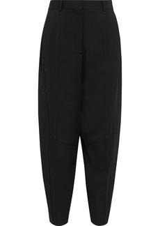 Victoria Beckham Woman Wool-gabardine Tapered Pants Black