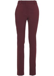 Victoria Beckham Woman Wool-twill Slim-leg Pants Burgundy
