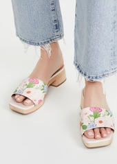 Villa Rouge Sage Multi Poppy Floral Printed Clogs
