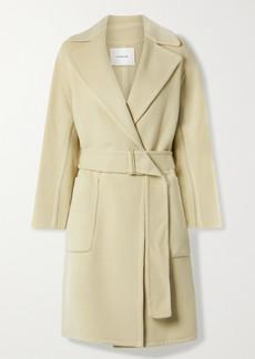 Vince Belted Brushed Wool-blend Coat