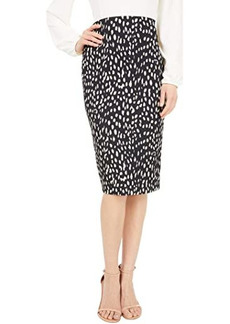 Vince Camuto Animal Textured Knit Pencil Skirt