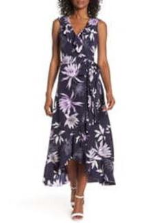 Women's Vince Camuto Asymmetrical Faux Wrap Midi Dress