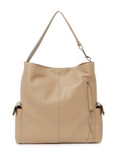 Vince Camuto Garri Leather Shoulder Hobo Bag