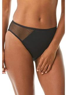 Vince Camuto Mesh Cutout High Leg Bikini Bottoms