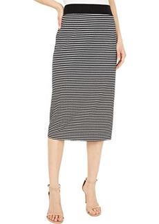 Vince Camuto Mini Stripe Pull-On Knit Skirt