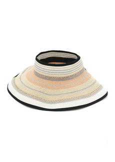 Vince Camuto Multi-Stripe Lurex Roll-Up Visor