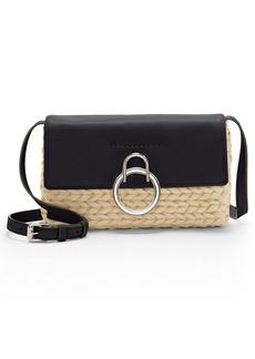 Vince Camuto Plum O-Ring Woven Crossbody Bag
