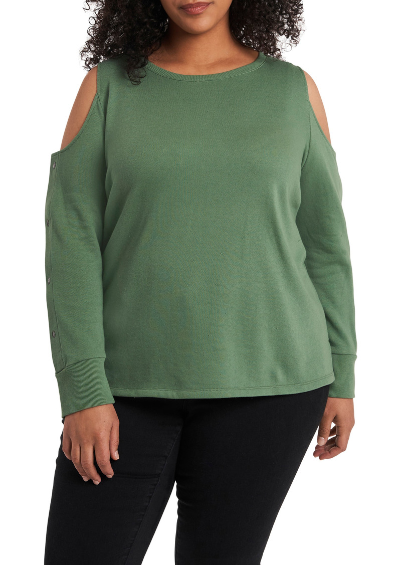 Plus Size Women's Vince Camuto Cold Shoulder Top