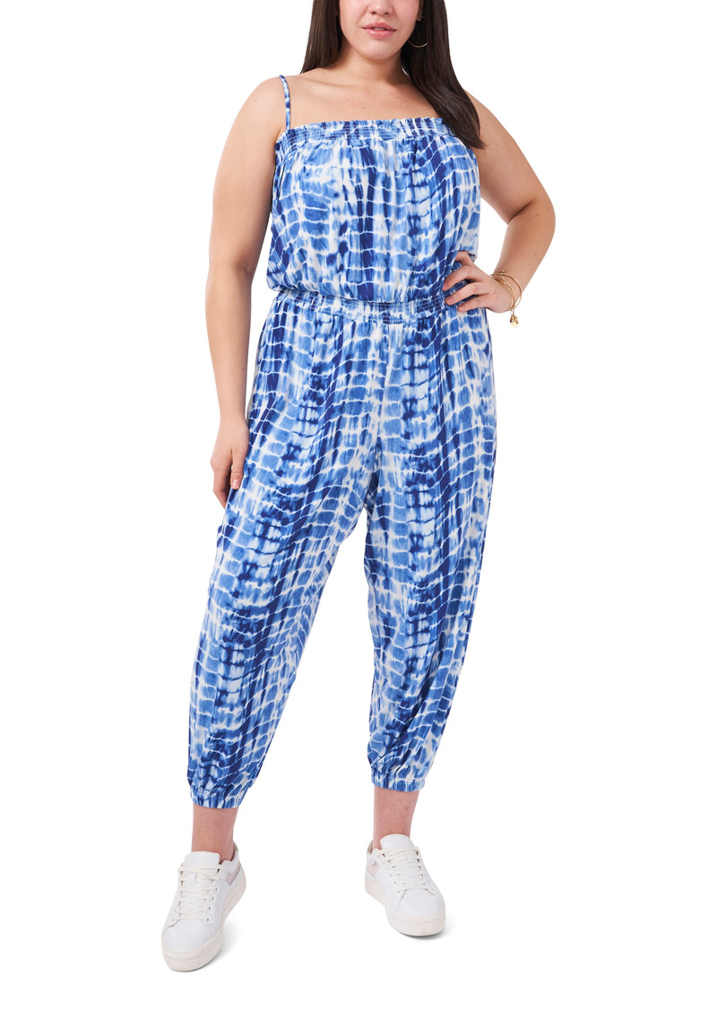 Plus Size Women's Vince Camuto Sleeveless Tie Dye Jumpsuit