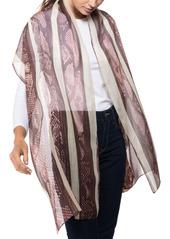 Vince Camuto Python Stripe Oblong Silk Scarf