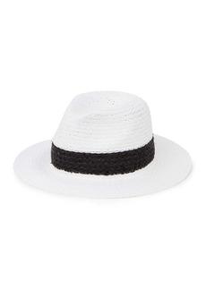 Vince Camuto Solid Straw & Raffia Panama Hat