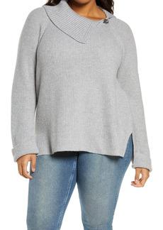 Vince Camuto Split Neck Sweater
