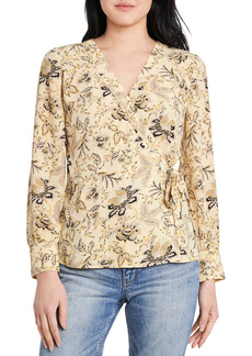 Vince Camuto Vince Camtuo Antique Floral Side Tie Long Sleeve Blouse